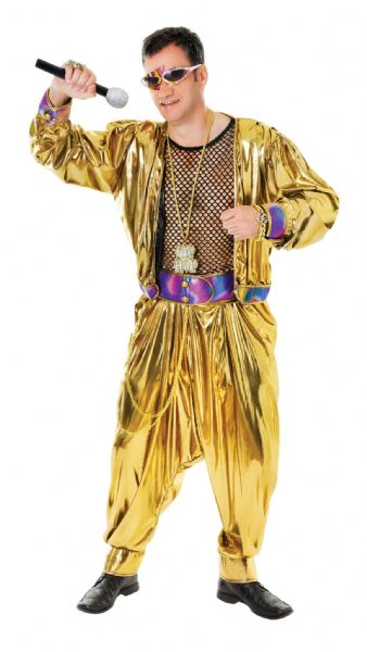 Adults 80s Video Super Star Costume 80s Disco Pop Retro Fancy Dress Outfit